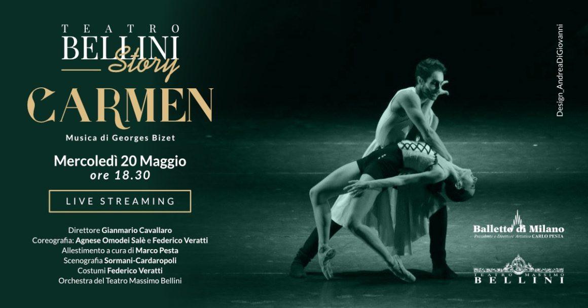La seduzione di Carmen nello spettacolo del Balletto di Milano